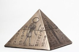 Egyptian Gods Pyramid Trinket Box Egypt Jewelry Container Figurine Statue 8076 - $22.80