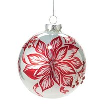 Department 56 Peppermint Forest Painted Poinsettia Ornament, 4.5-Inch