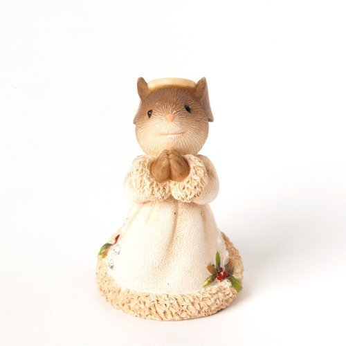 Enesco Heart of Christmas Gift Mouse Angel Figurine, 1.97-Inch