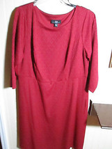 AGB LADIES DRESS SIZE 14W  RED TEXTURED NWT - $22.99