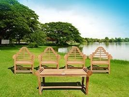 Windsor's Genuine Grade A Teak Lutyens 5Pc Set , 4 Chairs & Coffee Table... - $1,995.00