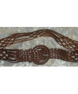 Coldwater Creek Belt Braided Leather Size Med NEW - $18.99