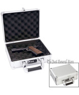 "10-7/8"" Aluminum Exterior Single Pistol Gun Case Combination Lock Hard H... - $48.99"