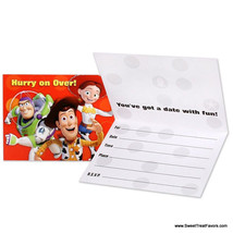 TOY STORY 3 Party Supplies INVITATIONS x8 Birthday Decoration Woody Buzz... - $7.87