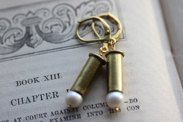 Bullet Earrings, 22 Caliber,  Bullet Casing Jewelry , Bullet Casing Earrings - $28.00