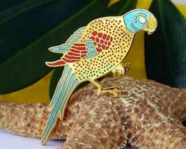 Vintage Cloisonne Parrot Brooch Pin Metropolitan Museum of Art MMA - $22.95