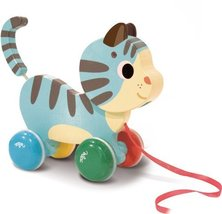 Vilac Pull Toy, Marcel the Cat - $26.19