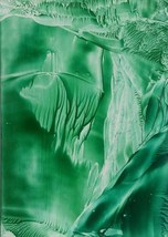 Encaustic Wax Fantasy Art Print 'Green Cavern B... - $22.00