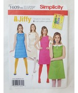Simplicity Jiffy 1960's Vintage Dress sewing pattern 1609 size H5 6-14 - $11.87