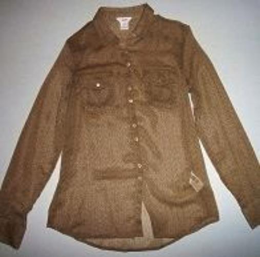 Pre-owned JOE FRESH JC PENNY Women's Brown Long Sleeve Blouse Size XS - $24.75