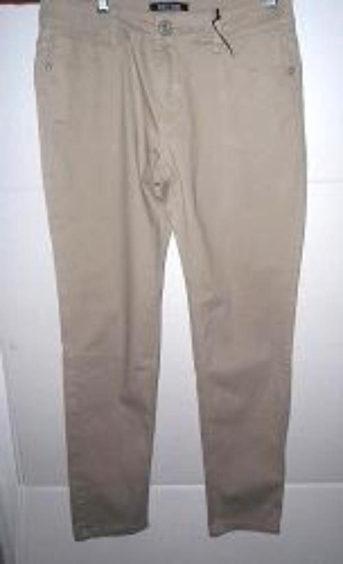 Pre-owned ROZ & ALI Women's Beige Skinny Jeans Petite Size 8 image 1