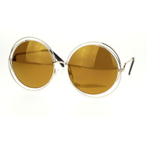 Super Oversized Round Circle Wire Metal Frame Womens Sunglasses - $8.95+