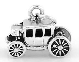 925 STERLING SILVER 3D STAGECOACH CHARM/ PENDANT - $22.71