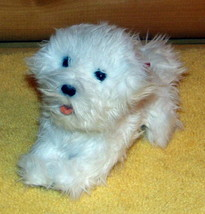 """FurReal Friends Plush 8"""" Teacup Sound Action White Furry Puppy + Purple Paw Tote - $7.99"""
