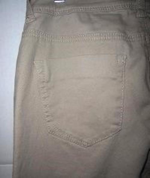 Pre-owned ROZ & ALI Women's Beige Skinny Jeans Petite Size 8 image 6