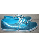 Van's Fashion Turquoise Sequins Tennis Shoes 10.5 1/2M Womens Athletic F... - $29.69