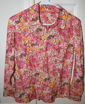 Tommy Bahama Relax Women's Floral Button Up Shirt Size XSmall Long Sleeve - $29.99