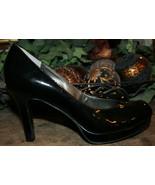 Tahari Black Patent Leather Pumps Lonnie Platform Heels 8M Women's Close... - $39.99