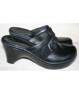 Nurture Black Leather Clog Mule Heels Wedge 11M Women's - $39.99
