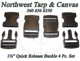 """Quick Release Buckle, Side Release, 1½"""" Plastic, 4 Pc Set  - Shipped from USA - $6.34"""