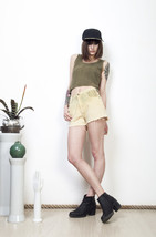 Ombre grunge shorts 90s spiked distressed denim hot pants - $43.08