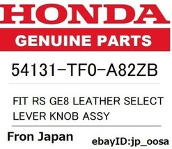 Honda Genuine Fit Rs GE8 Leather Select Lever Knob Assy - $165.42