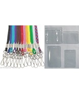 50 Nylon Neck Lanyards + 50 ID Badge Holders ~Y... - $36.03
