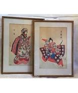 SET OF 2 Antique Original Ukiyo-e Japanese Wood... - $633.60