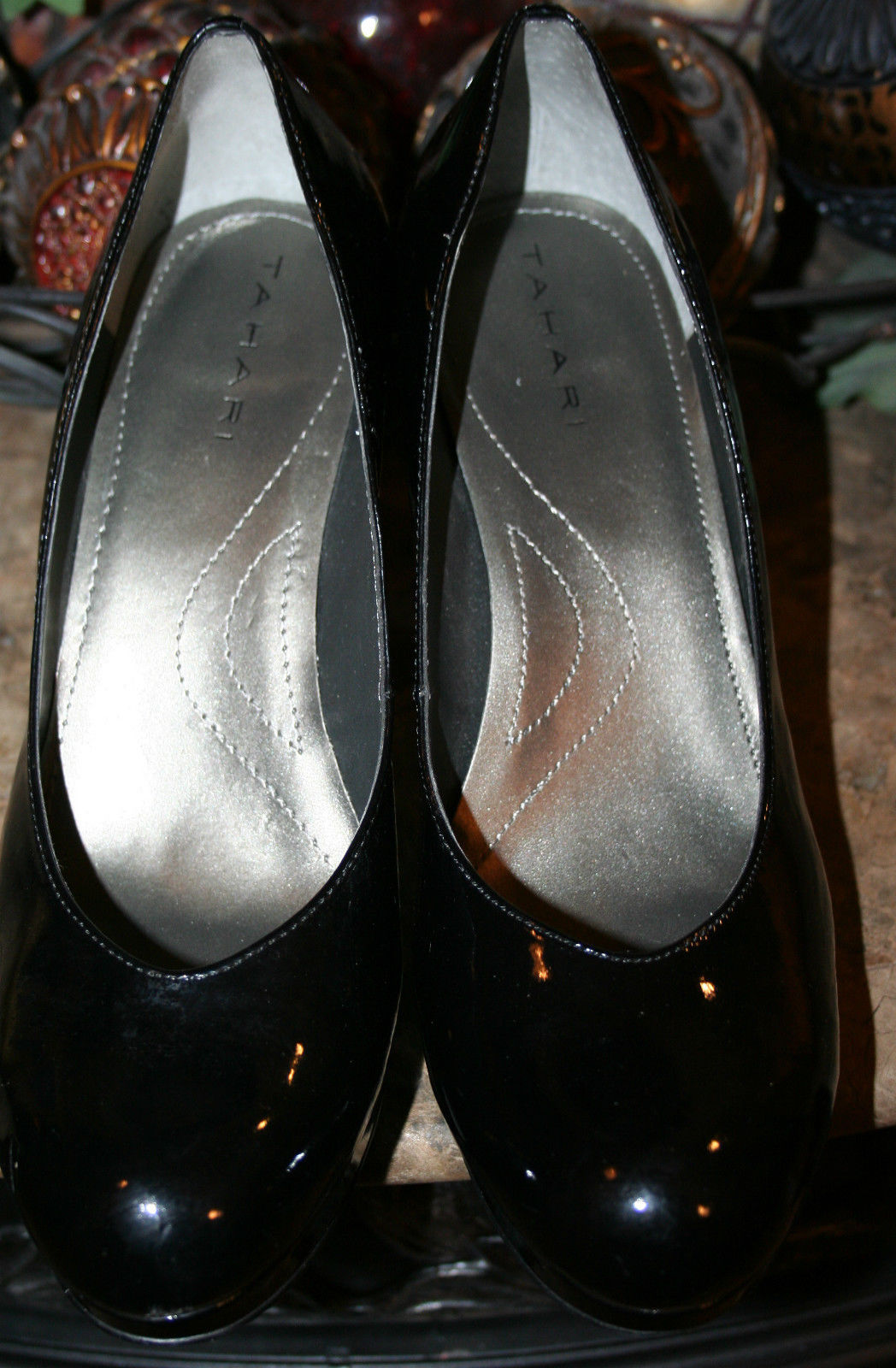 Tahari Black Patent Leather Pumps