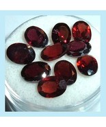 9.95ctw Lot of 10 Red GARNET Oval Cut 6x4mm Faceted Natural Loose Gemstones - $19.99