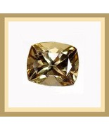 4.18ct Champagne TOURMALINE Cushion Cut 12x10mm Faceted Natural Loose Ge... - $21.99