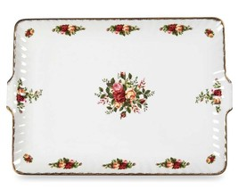 Royal Albert OLD COUNTRY ROSES Fluted Serving Tray Rectangular Dish 13.5... - $49.90