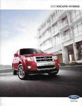 2012 Ford Escape Sales Brochure Catalog Us 12 Xls Xlt Limited Hybrid - $6.00