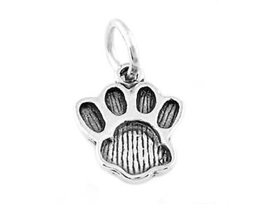 STERLING SILVER FAT ANIMAL PAW PRINT CHARM/PENDANT