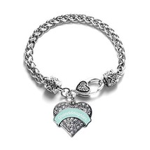 Inspired Silver Mint Granddaughter Pave Heart Bracelet - $13.71