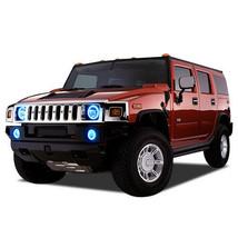Brightest Blue LED Halo Ring Headlight Fog Light Kit for Hummer H2 03-09 - $164.93
