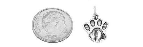 STERLING SILVER FAT ANIMAL PAW PRINT CHARM/PENDANT image 2