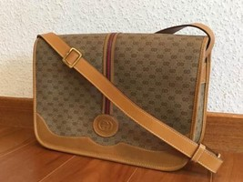 Auth Gucci Shoulder Bag Brown OLD Gucci Sherry line Vintage GG  Supreme ... - $329.67