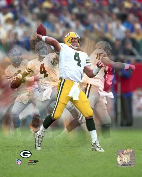 Primary image for Brett Favre ME Green Bay Packers Vintage 8X10 Color Football Memorabilia Photo