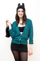 Emerald green cardigan - $12.71