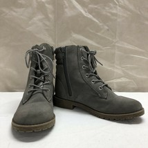 The Children's Place Girls Gray Zip Up Boots Size 3 - Fs - $21.96