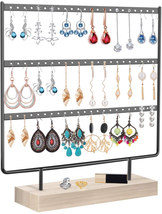 Earrings Organizer Jewelry Display Stand, 3-Tier Earring Holder Rack for... - $23.30