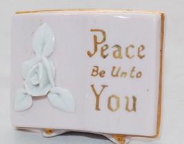 """Ucagco Japan porcelain Ceramics """"Peace Be Unto You"""" Small Shelf Religiou... - $39.59"""