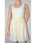 MINUET $128 Cocktail Day Evening Party Prom White Lace Dress sz Large L ... - $29.67