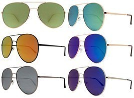 Sexy Large Gold Aviator Mirror Lens Famous Blogger Hot Big Sunglasses 36... - $9.95