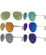 Large Aviator Flat Frame  Mirror Lens Famous Blogger Hot Big Pilot Sungl... - $187,46 MXN