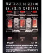 Francois Schuiten Rare Poster Print Festival Fenetres sur Bruxelles 1994 - $27.95