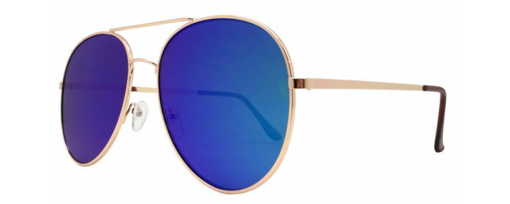 Sexy Large Gold Aviator Mirror Lens Famous Blogger Hot Big Sunglasses 3683 L