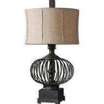 Uttermost 26463-1 Lipioni Lamp, Rustic Black Metal Cage - $237.60