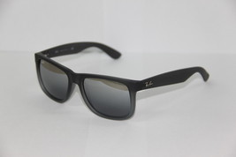 Ray Ban Sunglasses 4165 Justin 852/88 Grey Mirrored Lenses New 100 %Orig... - £64.20 GBP